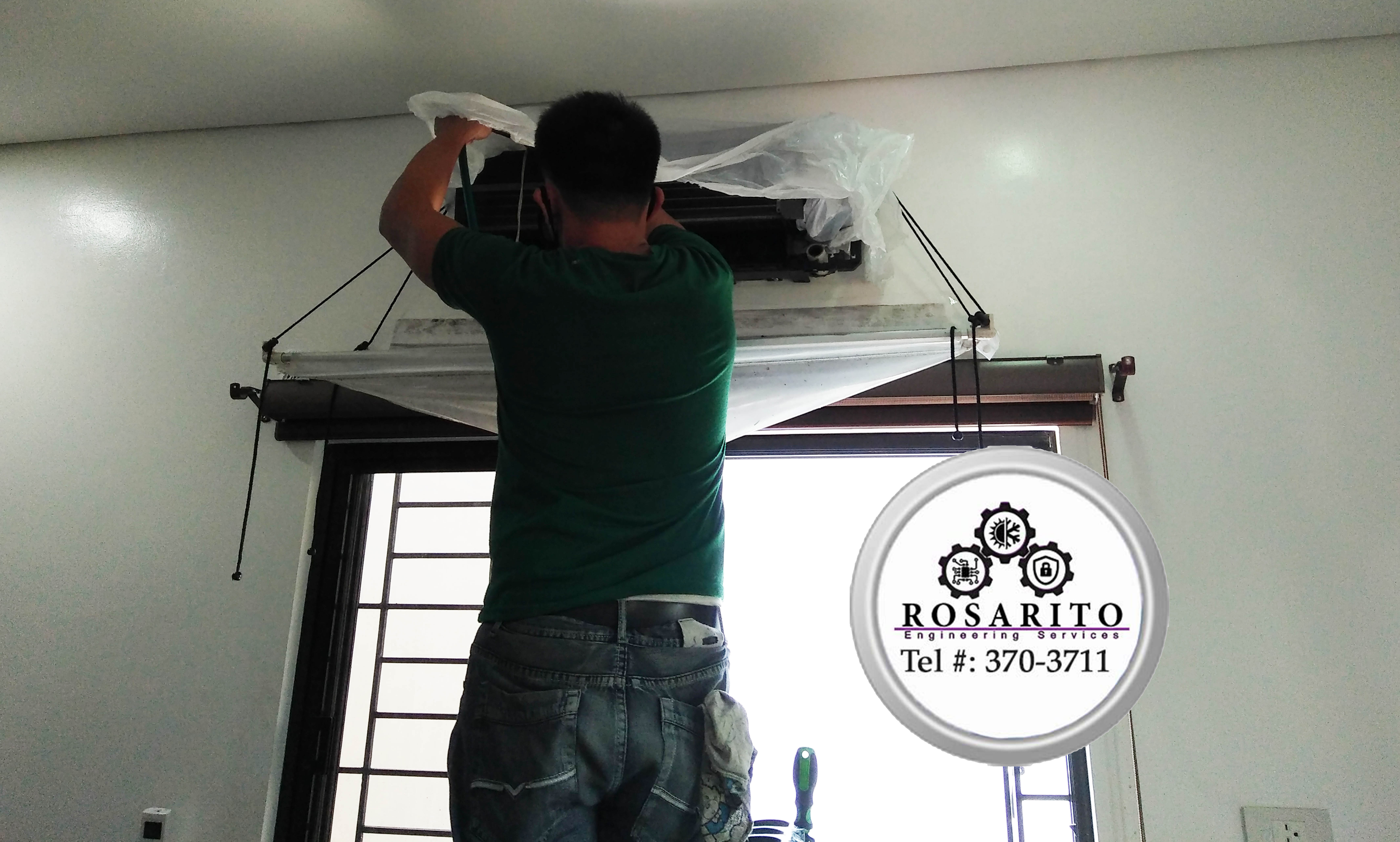 Split Type Aircon Cleaning with Preventive Maintenance